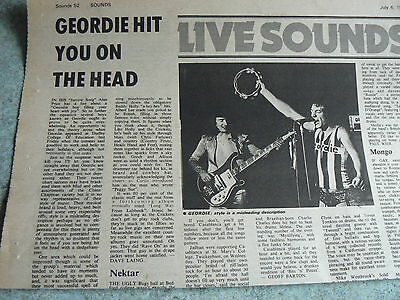 Geordie / B Johnson/ Ac/dc - 1 Page 1970's Uk Music Paper Article