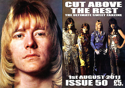 SWEET -  C.A.T.R. SWEET FANZINE ISSUE No 50  (1.08.2011 BRIAN CONNOLLY 1970'S UK