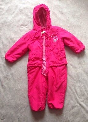 Little Girls Pink Snowsuit / Winter Oversuit AVENUE BABY COLLECTION 2 - 3 YEARS