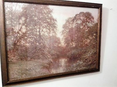 """Lovely Framed & Glazed Vintage Homelovers Print By Sutton Palmer """"glowing Eve"""""""