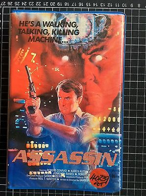 ASSASSIN rare Showcase BETA not VHS Video cult 80s sci-fi action TV movie