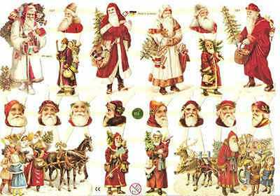 vintage style Santa Claus Christmas Scrap For Scrapbooking Scrapbook projects