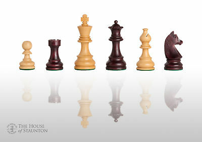 """USCF Sales The Championship Chess Set - Pieces Only - 3.75"""" King - Purpleheart G"""