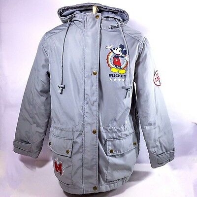 Disney Mickey Mouse Large Hooded Jacket Gray