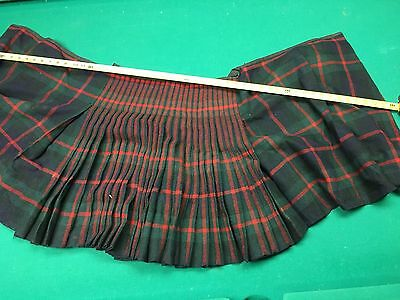 """Two - Authentic Wool Childs  KILTS  21"""" +/- LENGTH and WAIST 20-24"""" +/-"""