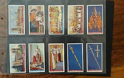 Coronation Of Their Majesties Set Of 50 Cigarette Cards 1937 Godfrey Phillips