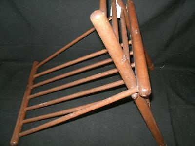 Vintage Wood Gout Foot Stool Leg Rest Medical Furniture Ottoman Wooden