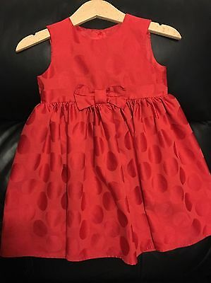 Girls red Party Dress 12-18m