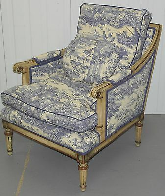 Ralph Lauren Rrp£2800 French Louis Style Armchair Chinese Embroidered Upholstery