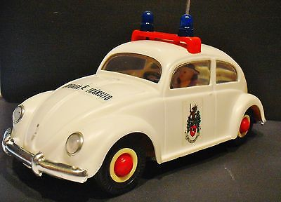 FRICTION VOLKSWAGEN Tin & Plastic BEATLE - made in PORTUGAL 1970's BY PEPE