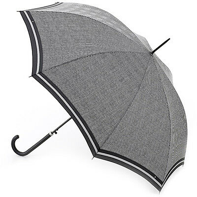 Riva Auto Prince of Wales Stripe - Ladies automatic walking length umbrella