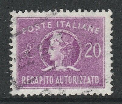 1955 ITALY CONCESSIONAL LETTER POST 20L REDDISH VIOLET Stamp - USED