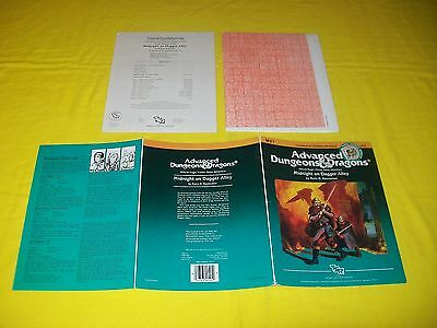 Mv1 Midnight On Dagger Alley Dungeons & Dragons Ad&d Tsr 9104 - 2  Solo Module