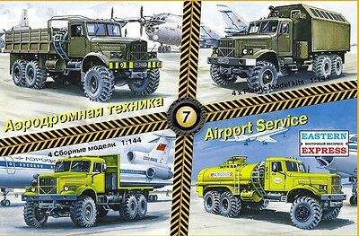 1:144 Eastern Express 14606  Russian Airport Service Trucks KrAZ (Kit #7)