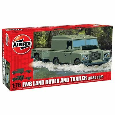 1:76 Airfix A02324 LWB Landrover (Hard Top) and GS Trailer