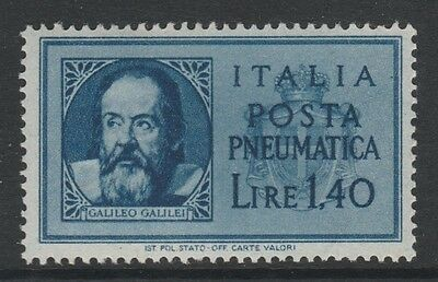 1945 ITALY PNEUMATIC POST 1L.40 BLUE GALILEO Stamp – MNG