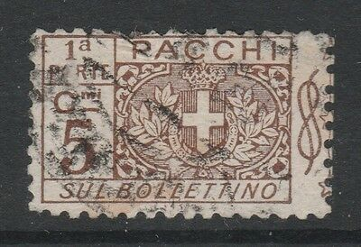 1914 ITALY PARCEL POST 5c BROWN Stamp - USED