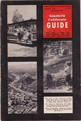 1961 Southern California Information Guide Booklet