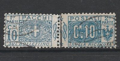 1914 ITALY PARCEL POST 10c BLUE Stamp - USED