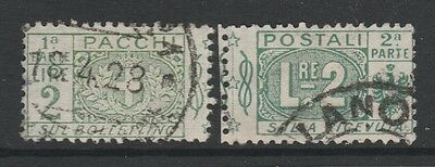 1914 ITALY PARCEL POST 2L GREEN Stamp - USED