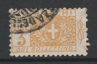 1914 ITALY PARCEL POST 3L YELLOW Stamp - USED