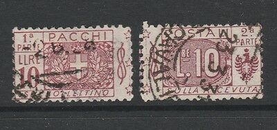 1914 ITALY PARCEL POST 10L PURPLE Stamp - USED