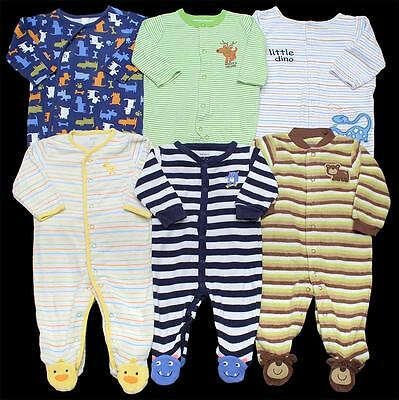 BABY BOY 6 months 6-9 months Carter's SLEEPER PAJAMAS Clothes Lot