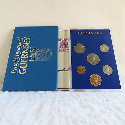 GUERNSEY 1981 6 COIN PROOF SET - sealed pack/cover