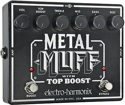 Metal Muff Distortion with Top Boost Guitar Effects Pedal, ELECTRO HARMONIX,