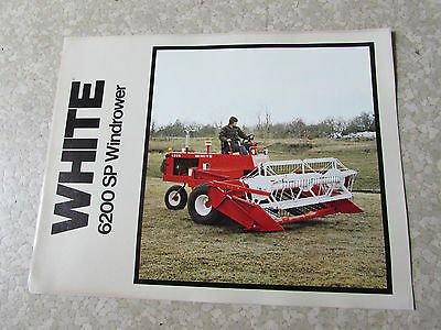 White Oliver Brochure 6200 Sp Windrower Cutter Combine 1978