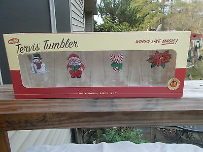 Trevis Tumbler Christmas Set - 4 Tumblers 2006 New In Box
