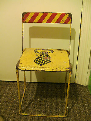 Childs Chair Metal School 1950S Retro Industrial