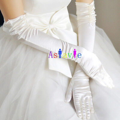 Ladies Party Dress Prom Evening Wedding Brisal Long Finger Gloves