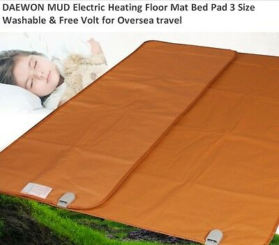 DAEWON Mud Electric Heating Floor Matt Bed 3 size Washable Free Volt for Oversea