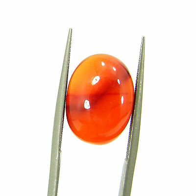 6.30 Ct Beautiful Natural Cabochon Orange Carnelian Gemstone Stone - 8676