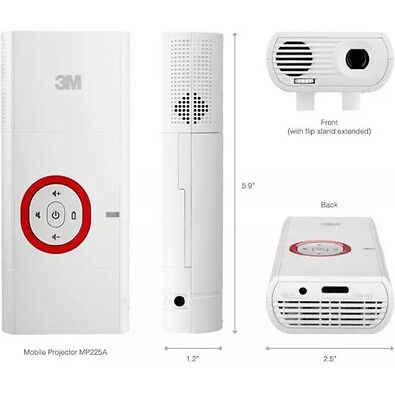 3M MP225a Mobile Projector + Extra Battery Pack!