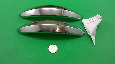 2 Oblong Nickel-Plated Dresser Drawer Handles/Pulls