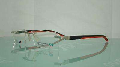 Tag Heuer TH 0843 002 PURE BLACK & RED Rimless Eyeglasses Frames Size 53