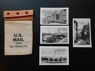 US Mail from New Orleans - Four Real Photo Cards - New Orleans Views