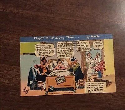 They'll Do It every Time...by Hatlo 1943 postcard cartoon