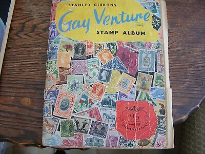 Stanley Gibbons Gay Venture Stamp Album Containing Over 350 Hinged World Stamps