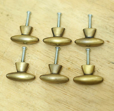 "1.37"" 6 pcs Vintage Western Retro Knobs Solid Brass Cabinet Drawer Handle Pulls"