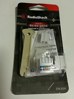 NEW RadioShack RJ-45 Phone/Data Jack Kit Snap In Accepts 278-2024