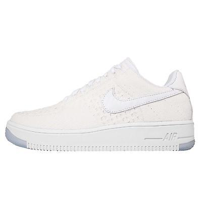 Nike W AF1 Flyknit Low Wmns Air Force 1 White Womens Casual Shoes 820256-101