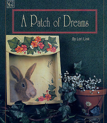Tole Painting Book Patch of Dreams Lori Link Impatiens Sheep Clover Rabbit