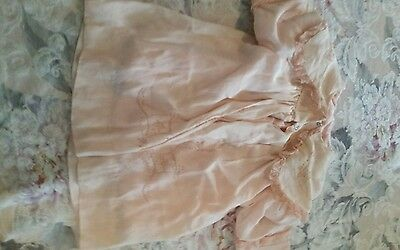 Antique 1880 Victorian baby infant Pink Embroidered Childs Silk Dress Gown Coat