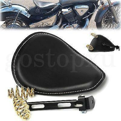 Universal Leather Moto 3'' Ressort SOLO Support Selle D'or Siège For Harley