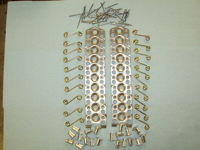 """20 Steel 7/16"""" Dome Head Dzus .500"""" Long,20 Plates And Springs And 40 Pop Rivets"""