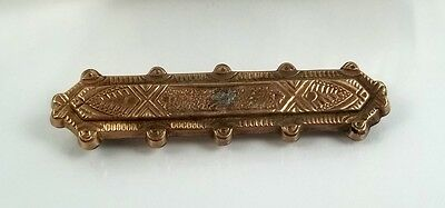 Antique Victorian Gold Filled Bar Brooch For Repair