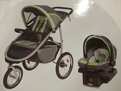 Graco FastAction Fold Jogger Click Connect Travel System, Piazza